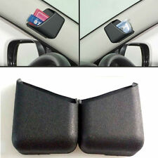 2pcs Black Universal Car Accessories Phone Pen Organizer Storage Bag Box Holder