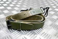 Genuine Vintage Military Issue Green Leather Shoulder Strap For Satchel Side Bag
