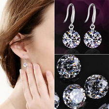 925 Sterling Silver Drop Hook Dangle Cubic Zirconia Earrings