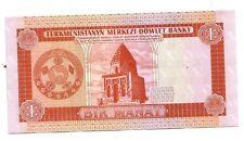 Turkmenistan 1 manat  1993  pick 1  FDS  unc rif 2618