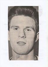 Freddie Hill Bolton Wanderers 1957-1969 originale firmato a mano Rivista di taglio