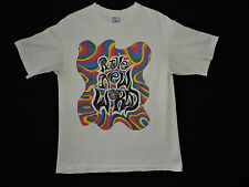 Vtg 90s RAVE NEW WORLD T-shirt L Ecstasy Brave Alternative Rainbow Psychedelic