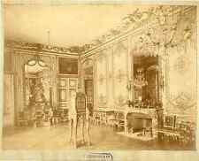 Jégoudez & Cie. France, Versailles, salon, intérieur  vintage albumen print. T