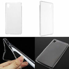 Clear TPU Gel Soft Back Cover Case For Sony Xperia M4 Aqua + Free Temper Glass
