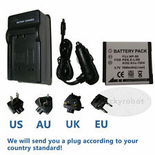 Battery+charger for Fuji NP-50 FinePix F900EXR F775EXR F665EXR F605EXR X10 X20