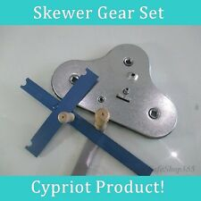 Mechanism bbq Cyprus Grill 3 Large Skewer Gear Set Fit Cypriot Foukou Rotisserie