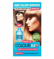 Colour B4 Hair Colour Remover  'Frequent use'.