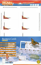 Decadry SCB-2007 120 Wide Angle Business Cards. Make your own Business cards