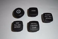 (x5) TRIUMPH TR6     Dashboard Dash Knobs Set     (** From 1972- 73 **)