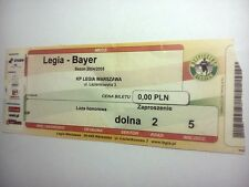 used ticket LEGIA Warsaw - BAYER Leverkusen 12.07.2005