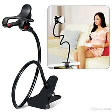360 Rotating Cell Phone/GPS Holder w/ Flexible Long Arm and Strong Clamps Black