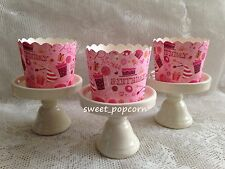 FREE SHIP 20pcs Princess Birthday Pink Paper Muffin Cups Baking Candy Nut Party