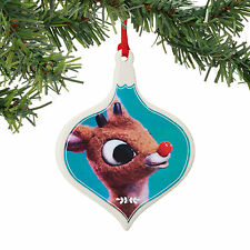 Dept 56 Christmas Rudolph Red Nosed Reindeer Sentiment Ornament New 2015 405009