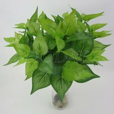 Rich Leaves Artificial Grass Fake Leaf Greenery Foliage Green Plant Home Decor