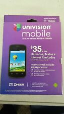 ZTE ZINGER Android Cell Phone - No Contract (UNIVISIION / T-MOBILE) - Black