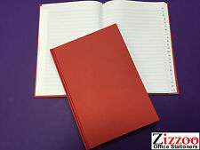 A5 A-Z INDEXED HARD BACK BOOK (RED) - MANY USES, ADDRESSES, ETC + FREE P&P