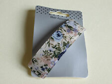 NEW 9cm Vintage Cream/Blue floral print barrette hair clip fashion