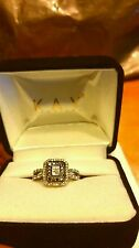 Black Diamond and diamond engagement ring from kay jewelers for Valentine's Day!