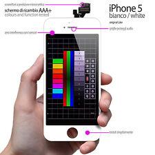 BILDSCHIRM GLAS WEISS IPHONE 5 TOUCHSCREEN+LCD-DISPLAY NETZHAUT KIT PREASSEMBL