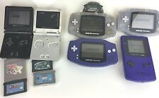 Nintendo Game Boy Lot 4 Working 2 For Parts/Repair DS GBA Gameboy Color + 4Games