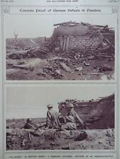 1917 CAPTURED GERMAN PILL-BOXES THIRD YPRES FLANDERS WWI WW1
