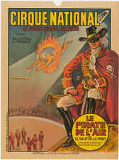 AFFICHE ORIGINALE CIRQUE NATIONAL LE PIRATE DE L'AIR
