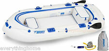 SEA EAGLE SE9 INFLATABLE MOTORMOUNT BOAT STARTUP PACKAGE 2 OARS, 2 SEATS, PUMP
