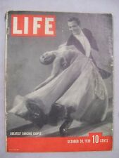 LIFE MAGAZINE OCTOBER 30 1939 GREATEST DANCING COUPLE