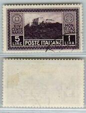 REGNO - 1929 - 5L+1 Montecassino (267) - Annullo postumo di favore - U