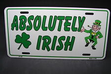 IRISH METAL NOVELTY LICENSE PLATE FOR CARS