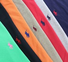 Lot 7 Men's POLO RALPH LAUREN Short Sleeve Solid Polo Shirts Large