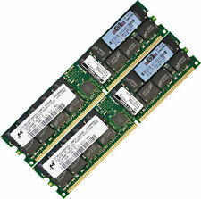 Memoria RAM 4GB (2x2GB) DDR-400 PC3200 ECC Registarda 184-pin