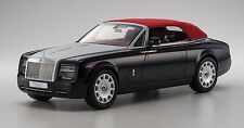 Kyosho 1:12 Rolls Royce Phantom Drophead Coupe II, Diamond Black/Silver