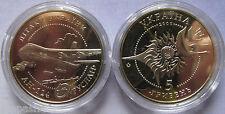 """Ukraine - 5 Grivna coin 2005 """"Ruslan` AN-124 aircraft"""" UNC"""