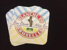 4 Belgian Blanche de Bruxelles Beermats / Coasters (COLLECTABLE)