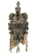 Art Africain - Authentique Masque de Portage N'Gambele Senoufo Twin Senufo Mask