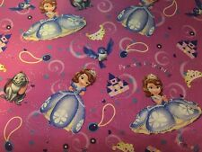 Sofia the first Sophia Nick jr princess fabric material sewing cotton new 1 yard