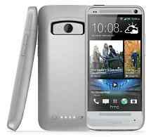 Mophie-Juice-Pack-Rechargeable-External-Battery-Case--HTC-One M7-2500mAh-Silver