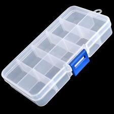 Plastic Clear False Nail Tips Empty Storage Box Case