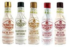 """Fee Brothers """"The Trees"""" Cocktail Bitters - 5 Bar Drink Mixers Cherry Lemon Plum"""