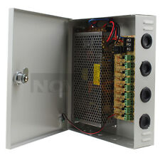 9 Channel CH CCTV Security Camera Distribution PTC Power Supply Box 12V 10A DC