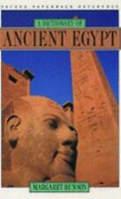 A Dictionary of Ancient Egypt by Margaret R. Bunson (1995, Paperback)