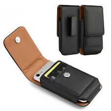 Samsung Galaxy S4 / S5 / S6 /S7 - Leather Pouch Belt Clip Holster Card Slot Case