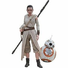Movie Masterpiece Star Wars The Force Awakens REY & BB-8 1/6 Figure Hot Toys NEW