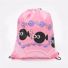 Girls Boys Drawstring Swim Sportswear Shoe Dance Bags Schoolbags Backpack Gym D