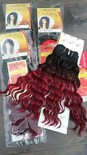"NEW 100% REAL Human Hair JANET European Curl Wet n Wavy 12"" inch TT1B/D.BURG WVG"