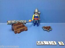 (M314.3) playmobil  chevalier du lion bleu et sa canonière 3316/3268
