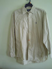 MENS RALPH LAUREN BLAKE COTTON TAN DRESS SHIRT SZ XL