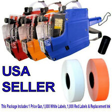 MX6600 Price Gun 2 Lined, 1,000 Red Labels, 1,000 White Labels & Extra Ink