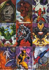 2016 Marvel Masterpieces ORANGE Set 1-90 includes High #82 thru 90 NM